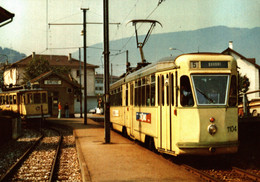 N°9503 R -cpm Tramway Ligne Neuchâtel Boudry -la Motrice Be 4/6 - Tramways
