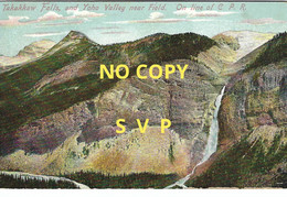 00866 CANADA // TAKAKKAW FALLS AND YOHO VALLEY NEAR FIELD ON LINE OF C P R  // ECRITE // DOS DIVISE // TIMBRE - Andere