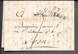 LETTRE AVEC MARQUE POSTALE 77 CASTRES 1824 - 1801-1848: Vorläufer XIX
