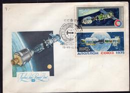 URSS - 1975 - FDC - Joint Apollo-Soyuz Mission - Europa