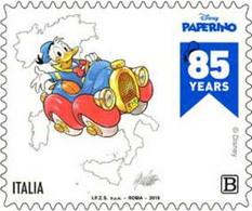 Italia - 2019 - Usato/used - Paperino - 313 E Sagoma Dell'Italia - 2011-...: Afgestempeld