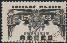 Mexico 1947 Scott C170 Sello º Historia Etnica Aztec Art Correo Aereo Michel 957 Yvert PA125 Mejico Stamp Timbre Mexique - Mexico