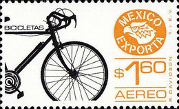 Mexico 1979 Scott C596 Sello ** Exportacion Bicicletas Michel 1682 Yvert PA508 Mejico Stamps Timbre Mexique Briefmarke - Mexico