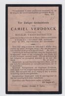 CAMIEL VERDONCK      NAZARETH  1843     OVERL  EKE   1926 - Overlijden