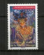 Légende Du Trésor De La Fontaine Du Manego (Personnage Portant Un Trésor)  Timbre Neuf ** Année 2008 - Unused Stamps