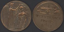 Olympiade 1924 Médaille Commémorative Dim 55 Mm ,très Bel état   MD-1019-D - Ohne Zuordnung