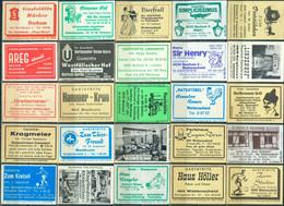 25 Alte Gasthausetiketten Aus Deutschland Sortiert Nach Alter Postleitzahl: 4618-4640 #265 - Matchbox Labels