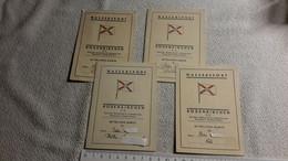 4 X Mitglieds - Karte Rodenkirchen E.V. Wassersport Reichsbund Für Leibesübungen 1940 - 41 - 43 - 44 Sport - 1939-45