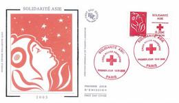 Enveloppe 1er Jour, Solidarité Asie, Croix Rouge Française, 2005 - (yt 3745) - 2000-2009