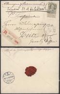 COB 78 Sur Lettre En Recommandé De Jupille Le 24/12/1906 Vers Zeits (Allemagne ) MD-1021-D - 1905 Thick Beard
