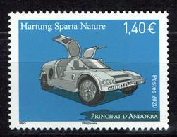 Andorre (postes Françaises), Voiture, Hartung Sparta, 2020, MNH VF - Unused Stamps
