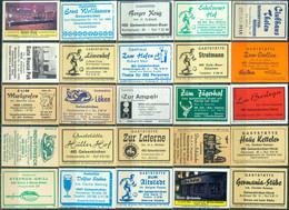 25 Alte Gasthausetiketten Aus Deutschland Sortiert Nach Alter Postleitzahl: 4628-4690 #266 - Matchbox Labels