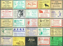 25 Alte Gasthausetiketten Aus Deutschland Sortiert Nach Alter Postleitzahl: 4618-4703 #267 - Matchbox Labels