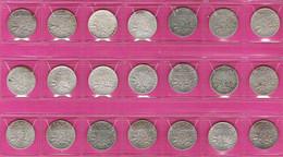 Lot De 21 Monnaies Françaises 50 Centimes Argent Semeuse Millésimes Différents G420 - G. 50 Centesimi