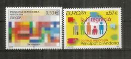 L'Intégration (Mosaïque De Couleurs) Emission Europa CEPT Année 2006 Des Deux Administrations AND FR/ AND ESP. ** - Unused Stamps
