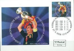 Austria Football European Championship Euro 2008, Spain - Winner, Card Iker Cassilas - UEFA European Championship