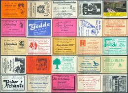 25 Alte Gasthausetiketten Aus Deutschland Sortiert Nach Alter Postleitzahl: 4750-4790 #270 - Matchbox Labels