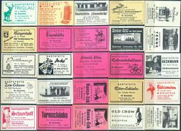 25 Alte Gasthausetiketten Aus Deutschland Sortiert Nach Alter Postleitzahl: 4800 - Bielefeld #272 - Matchbox Labels