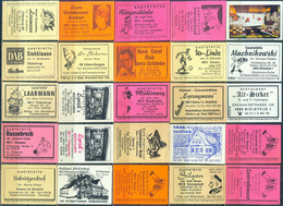 25 Alte Gasthausetiketten Aus Deutschland Sortiert Nach Alter Postleitzahl: 4800-4816 #273 - Matchbox Labels