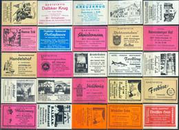 25 Alte Gasthausetiketten Aus Deutschland Sortiert Nach Alter Postleitzahl: 4800-4830 #274 - Matchbox Labels
