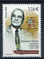 Andorre (postes Françaises), Jacques Chirac, Coprince D'Andorre, 2020, MNH VF - Unused Stamps