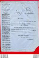 FACTURE (Réf : D434) IMPRIMERIE ET LIBRAIRIE CENTRALES DES CHEMEINS DE FER A. CHAIX ET Cie PARIS - 1800 – 1899