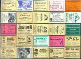 25 Alte Gasthausetiketten Aus Deutschland Sortiert Nach Alter Postleitzahl: 4830-4840 #275 - Matchbox Labels