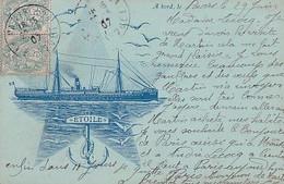 A BORD DE L ETOILE           LITHO               PRECURSEUR - Passagiersschepen