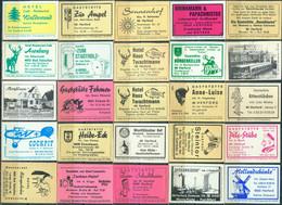 25 Alte Gasthausetiketten Aus Deutschland Sortiert Nach Alter Postleitzahl: 4900-4906 #276 - Matchbox Labels