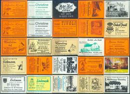 25 Alte Gasthausetiketten Aus Deutschland Sortiert Nach Alter Postleitzahl: 4902-4904 #277 - Matchbox Labels