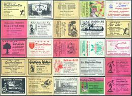 25 Alte Gasthausetiketten Aus Deutschland Sortiert Nach Alter Postleitzahl: 4905-4931 #278 - Matchbox Labels