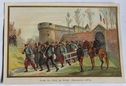 Grande Chromo Militaria Prise Du Fort De Ham Décembre 1870 Illustrateur Germain - Other