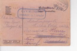 AUSTRIA, CROATIA, VARAZDIN  --  K U K  FELDPOSTKARTE  INFANTERIEREGIMENT KROONPRINZ FERDINAND Von ROMANIEN  --  ZENSUR - 1914-18