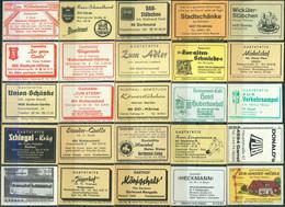 25 Alte Gasthausetiketten Aus Deutschland Sortiert Nach Alter Postleitzahl: 4300-4640 #279 - Matchbox Labels