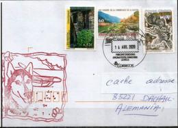 Mushing Andorre (Promenades En Traîneaux Tirés Par Des Chiens), Lettre Andorra Envoyée En Allemagne - Covers & Documents