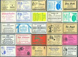 25 Alte Gasthausetiketten Aus Deutschland Sortiert Nach Alter Postleitzahl: 4628-4650 #280 - Matchbox Labels