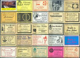 25 Alte Gasthausetiketten Aus Deutschland Sortiert Nach Alter Postleitzahl: 4701-4760 #282 - Matchbox Labels