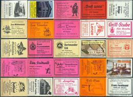 25 Alte Gasthausetiketten Aus Deutschland Sortiert Nach Alter Postleitzahl: 4760-4794 #283 - Matchbox Labels