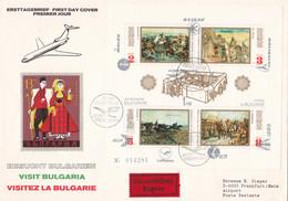 Bulgarien 1973 Nr. 2230-33 Block 39 - Flug Touristik Auf Brief Gelaufen Nach Frankfurt Eilzustellung - Cartas