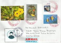 Lettre île Palau 2020, Adressée Principauté D'Andorre, Pendant épidémie Covid-19,avec Vignette Prevention Coronavirus - Palau