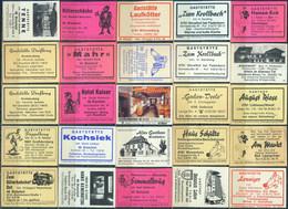 25 Alte Gasthausetiketten Aus Deutschland Sortiert Nach Alter Postleitzahl: 4791-4800 #284 - Matchbox Labels