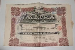 IMITRA Production Distribution énergie électrique (belgique) 1912 - Elektrizität & Gas