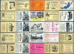 25 Alte Gasthausetiketten Aus Deutschland Sortiert Nach Alter Postleitzahl: 4800-4815 #285 - Matchbox Labels