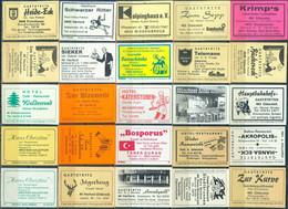 25 Alte Gasthausetiketten Aus Deutschland Sortiert Nach Alter Postleitzahl: 4830-4906 #286 - Matchbox Labels