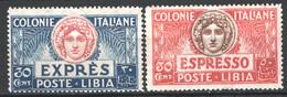 Libia 1921 Espressi Sass.Ex3/4 **/MNH VF/F - Libië
