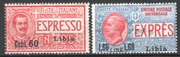 Libia 1922 Espressi Sass.Ex5/6 **/MNH VF/F - Libië