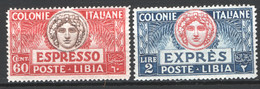 Libia 1923 Espressi Sass.Ex7/8 **/MNH VF/F - Libië