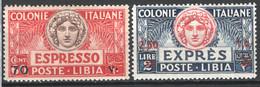 Libia 1926 Espressi Sass.Ex9/10 **/MNH VF/F - Libië