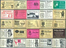 25 Alte Gasthausetiketten Aus Deutschland Sortiert Nach Alter Postleitzahl: 4901-4902 Bad Salzuflen #287 - Matchbox Labels