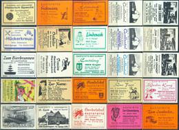 25 Alte Gasthausetiketten Aus Deutschland Sortiert Nach Alter Postleitzahl: 4901-4905 #288 - Matchbox Labels